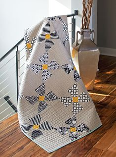 Modern Millie Quilt from Contemporary Curved Quilts by Sew Kind of Wonderful