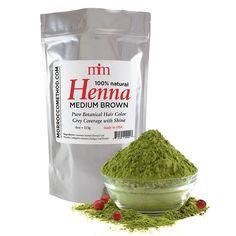 Natural Henna Hair Color : Henna Hair Dye - Medium Brown