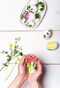 I was going through my archives and found this rose petal tray project that I loved and thought it might be fun to use foliage in a similar way for making simple Easter eggs. I love the nod to spring blossoms and bright green foliage on these eggs. Nothing more Easter-y than that! Keep reading …