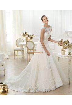 Robe de mariée 2014 tulle dentelle pailleté