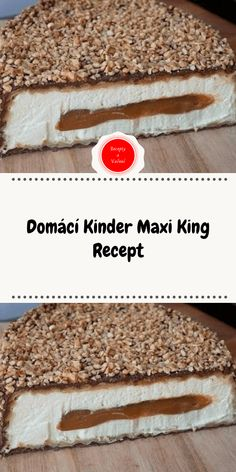 Domácí Kinder Maxi King Recept Maxi King, Little Cakes, Mini Cakes, Sweet Recipes, Food And Drink, Sweets, Lunch, Bread, Candy