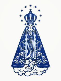 Nossa Senhora de Aparecida. I Love You Mother, Mother Mary, Catholic Art, Religious Art, Santa Maria, Videos Catolicos, Catholic Wallpaper, Holy Art, Clever Tattoos