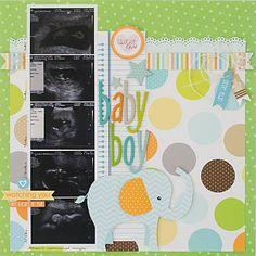 Baby Boy by Kim Arnold featuring Bella Blvd Baby Collection - Scrapjazz.com
