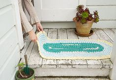 Crochet a Rag Rug with Cal Patch - Creativebug - grandma had dozens of these around her home.