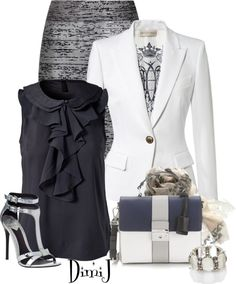 """The High Powered Business Meeting"" by dimij on Polyvore"
