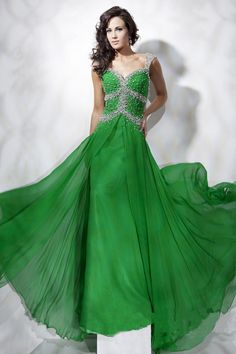 A-line Floor-length Chiffon Sweetheart Beading Prom Dresses - Special Occasion Dresses By AndyBridal Wedding Dresses