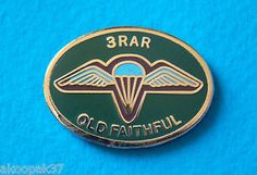 3 RAR OLD Faithful Enamel Gold Plated Lapel Badge 25mm Wide With ONE PIN | eBay