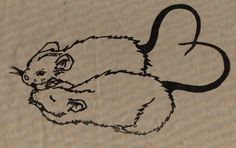 rat print - would make great tattoo