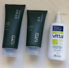 Kit Refrescante HOMENS- Kit Refrescante Homens – Shampoo Ice Man Energy KPro + Sabonete Energizante KPro + Vitta Relax. Um kit ideal para pós treinos