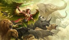 Green angel by sandara
