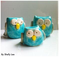 Handmade ceramic owls £13.99
