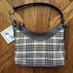 "I just added this to my closet on Poshmark: 5/A Baker Horse Blanket Plaid Amberhill Handbag. Price: $135 Size: Bag height: 8 1/4"", depth: 3 1/2"", length: 9 1/2"""