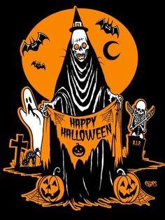 Vintage Halloween Images, Retro Halloween, 31 Days Of Halloween, Halloween Horror, Holidays Halloween, Halloween Crafts, Happy Halloween, Halloween Stuff, Halloween Sewing