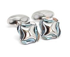 Swarovski Celtic Cufflinks These elegant and stylish cufflinks make a great present for dad. Available in three colours, blue, pink and black