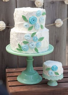 Definitely not in blue, but this cake is so cute and the site has great ideas!