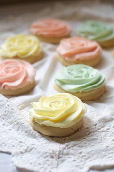 "Pastel ""Rose"" Sugar Cookies"