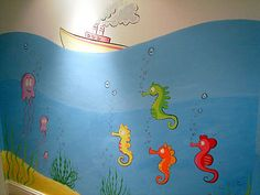 I like this under the sea mural because I think it can grow with the child.