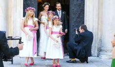 Three daughters King Willem Alexander and Queen Maxima are flower girls!! (08-06-2014)