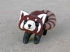 Tiny red panda  Handmade miniature polymer clay by AnimalitoClay, $28.00