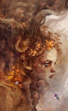 Beautiful Science Fiction, Fantasy and Horror art from all over the world. Tree Of Life Artwork, Art Graphique, Fairy Art, Renaissance Art, Pretty Art, Portrait Art, Aesthetic Art, Art Inspo, Amazing Art