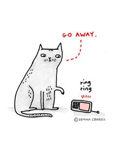 the introverted cat by gemma correll, via Flickr. This isn't me at all....