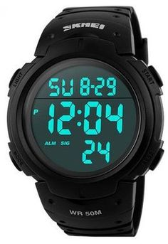 Aposon Mens Military Digital Sport Watch with Fashion Design Electronic LED Display Water Resistant