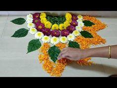 Simple Rangoli Designs Images, Rangoli Designs Flower, Rangoli Patterns, Colorful Rangoli Designs, Rangoli Designs Diwali, Flower Rangoli, Flower Designs, Diwali Decoration Lights, Diwali Decorations At Home