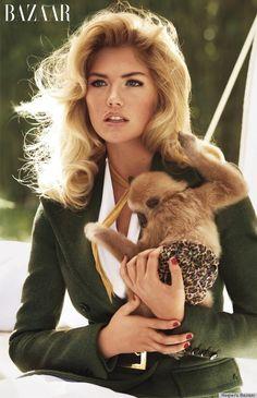 kate upton baby animals. Kate Upton Holds Baby Animals For Carine Roitfeld's Bazaar Shoot (PHOTOS)