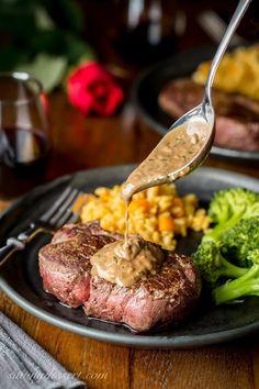 Beef Tenderloin Steaks with Herb Pan Sauce