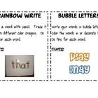 I have created center cards for spelling, sight words, or word work activities.  The cards can be used at centers to explain the activities.  There...