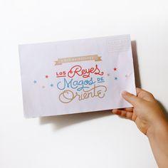 Carta Reyes Magos lettering by ninomaru