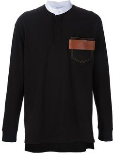 GIVENCHY Contrast Pocket Sweater. #givenchy #cloth #sweater