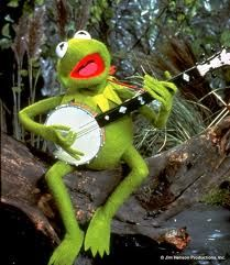"Kermit the Frog dates Miss Piggy and sings ""Rainbow Connection.""  People like this."