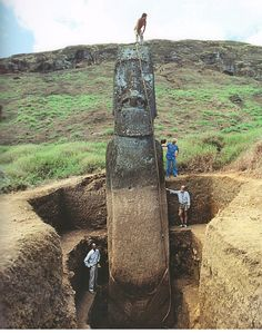 The Stone Statues in Easter Island have bodies!