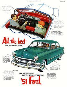 1951 Ford Custom Deluxe Two Door Sedan