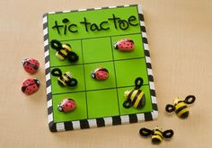 Check out Plaid Apple Barrel Ladybug Vs. Bumblebee Tic Tac Toe crafting ideas at A. Explore many more such exceptional art & craft products only here. Bee Crafts, Craft Stick Crafts, Diy Craft Projects, Projects For Kids, Diy And Crafts, Arts And Crafts, Craft Ideas, Kids Crafts, Nature Crafts