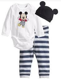 Mickey and Minnie Mouse 3 piece clothing sets