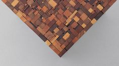 Shown in reclaimed dark mixed wood, 16 x 16 x 16H DESCRIPTION A rectilinear version of the original, the Stoolen Square is created from collected scraps of hardwood from local workshops.Works well as an end table, stool, or paired together as a coffee table. Available in custom sizes and finishes. Hand built to order, signed …