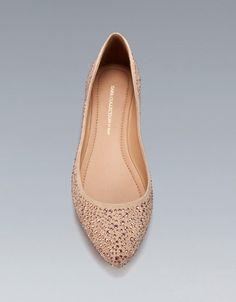 SHINY FLAT COURT SHOE - Shoes - Woman - ZARA United States
