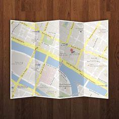 Ressources – Un PSD gratuit de Maps sur papier plié