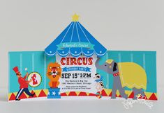 Printable Circus Birthday Party Circus Tent por PaperBuiltShop