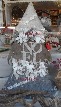 Albero di Natale cm70 cm in feltro www.rp-creazioni.it