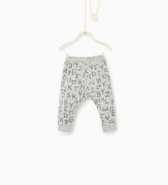 Image 2 of Leggings with letters and numbers from Zara