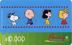 Snoopy on blue with 1 boy and 2 girls