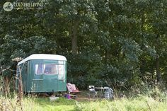 Fancy staying in a caravan called Gertie? maddogsandvintagevans.co.uk. Photo: Claire Richardson. countryliving.co.uk Gypsy Caravan, Gypsy Wagon, House Tent, Travel Specials, Shepherds Hut, Cool Campers, Good Times Roll, Vintage Vans, House On Wheels