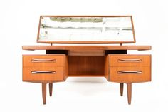 Mid Century Modern G Plan Fresco Floating Top Teak Desk Vanity on Etsy, $1,450.00