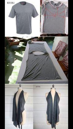 Formas de transformar tu playera vieja en una prenda a la moda | Modaestiloymujeres.com
