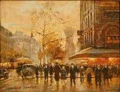 """""""Café de la Paix, Paris"""" by Edouard Leon Cortes"""