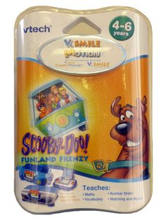 Scooby Doo VTech V.Smile Motion Scooby Doo Game Teaches: Spelling, maths, words, problem solving and more! Features motion based game-play and is compatible with V.Smile V.Link. Age range: 4-6 years. http://www.comparestoreprices.co.uk/educational-toys/scooby-doo-vtech-v-smile-motion-scooby-doo-game.asp