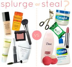 Splurge or Steal? A breakdown on the products you should splurge on, and the ones you can save on—without sacrificing quality.